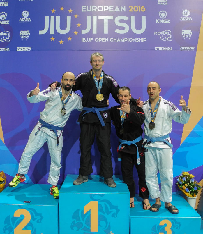 Europe IBJJF 2016 Podium Xavier Leroux